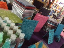 Our beautiful notebook covers, created by my friend Donna Gaddi. :)