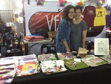 Sam Battung's booth! She sold their own creations, from little trays and accessories to arts & crafts kits and little knick knacks. :)