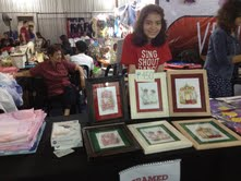 Spring's booth! She and her mom sold framed art works. :)