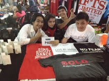 Trey's booth! He and his partner Joaquin, sold his awesome HASHTAG shirts. :)