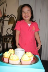 Noelle's candle blowing in Pasig. January 4, 2012.