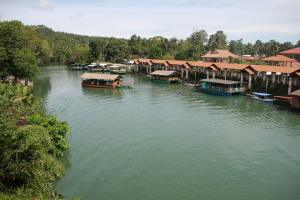 Loboc river cruise! We had lunch on one of these rafts, while cruising along the beautiful Loboc river.