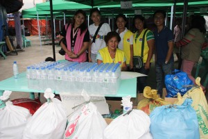 They were so grateful receiving all our goods. :)