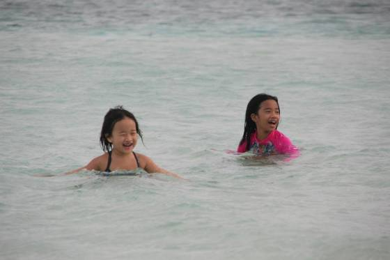 I would travel to beaches like this, no matter how tiring, just to see these precious smiles and listen to giggles and laughter from these two. :)