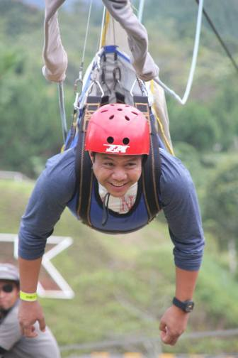 Highlight 12: Fears conquered! Noelle was not the only one to conquer her fear of the zipline. Our very own Ptr Chico did too! Despite his apprehensions, he went for it anyway. We were all so proud of him!
