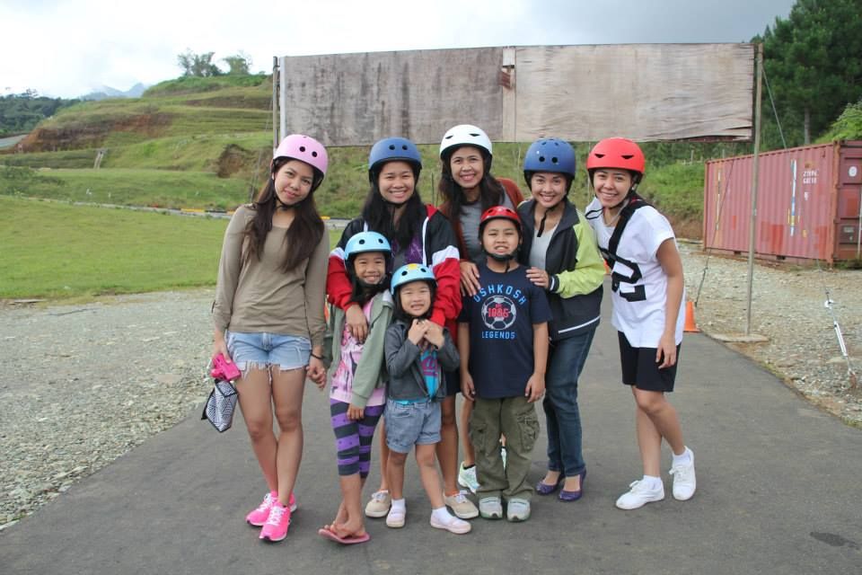"""On our """"free day,"""" a bunch of us went on the Luge. It wasn't my girls' first time, but they still enjoyed it. The fast and the furious in me did too. :)"""