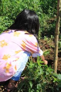Danae planting a seedling too :)