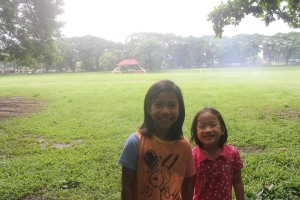 sunken garden! it was muddy due to light rain, so a picture with it as background was as far as we could go. :)