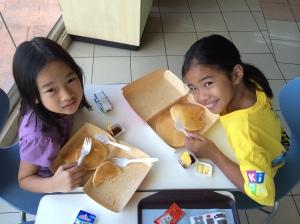 Breakfast at McDo. :)