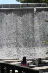 the waterfall from where we ate :)